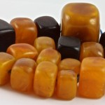 Mixed Faux Amber Cube Beads