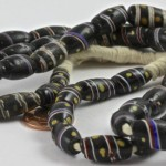 Antique Striped Black African Trade Beads