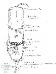 Rita Okrent Necklace Design Sketch